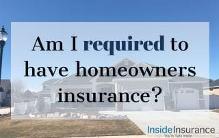 """alt=""""A mansion on the background with a note that says 'Am I required to have a homeowners insurance'."""""""