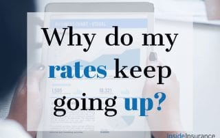 """alt=""""A picture of a newspaper held up to be read with a note that says 'Why do my rates keep going up'."""""""